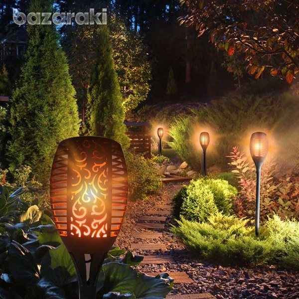 Led waterproof outdoor solar dancing flame light garden flickering lam-1