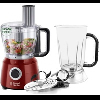 Russell hobbs 24730 food processor, 2.5l, 600 w, red