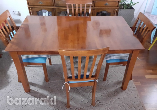 Solid wood dinner table-2