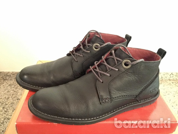 Kickers black leather shoes-2