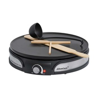 Steba crepes maker xxl cr 35 stainless steel/black