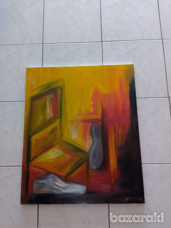 Artist original paint 70 x 85 oil on canvas signed by the artist.-4