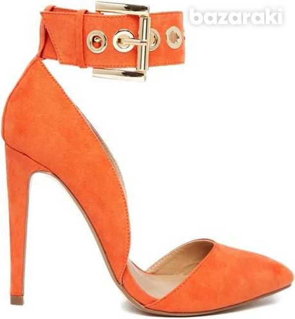Asos coral pointed high heel shoes uk2-2