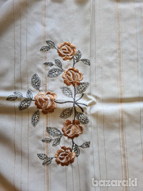 Two table runners and four small table cloths-2