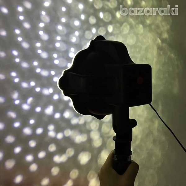 Snowflake led projector light moving laser lamp indoor outdoor garden-6