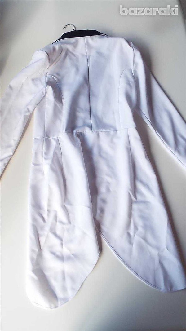 Carnival or dance show. white tailcoat.-2