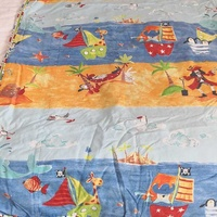 Reversible single quilt cover with pirates. παπλωματοθηκη διπλης οψεως πειρατε
