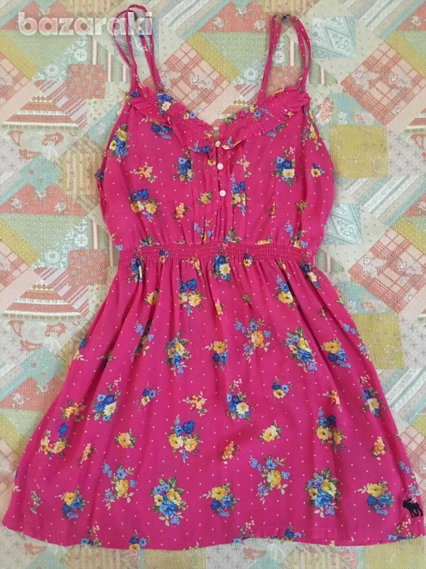 Abercrombie and fitch kids girls floral dress sz l-1