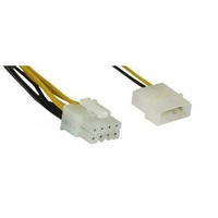 Inline power adapter cable 5.25 inch to 8 pin motherboard eps12v 0.45