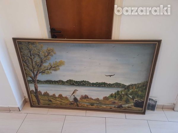 Canvas paint with signature-2