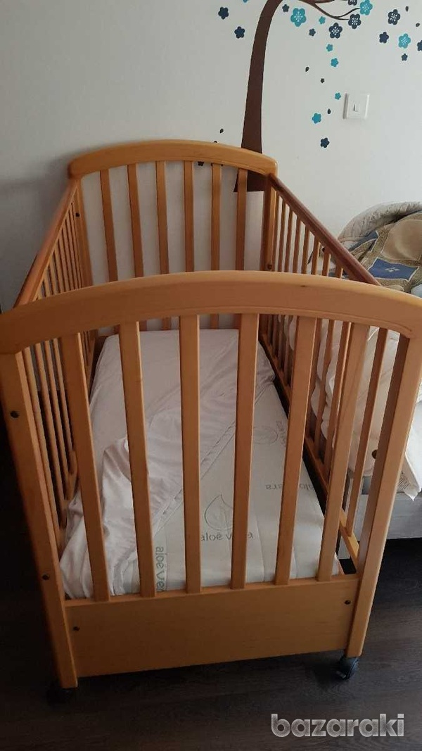 Baby bed with mattress-1