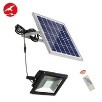 20w solar floodlight home outdoor ultra bright waterproof with remote