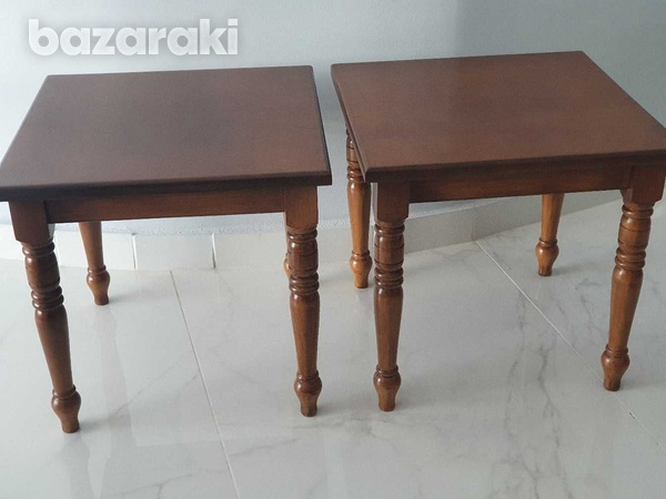 Two wooden side tables-2