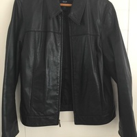 Gap leather jacket-women