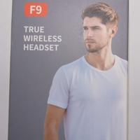 Noise cancelling sport f9 wireless earbuds with power bank