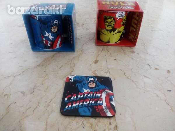Marvel coffee mug and coaster / φλυτζανια καφε marvel-1