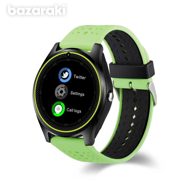 New v9 smart watch with sim card slot camera bluetooth for android ios-5