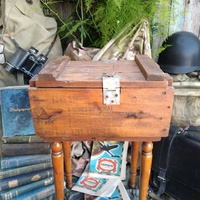 Military wooden mines box