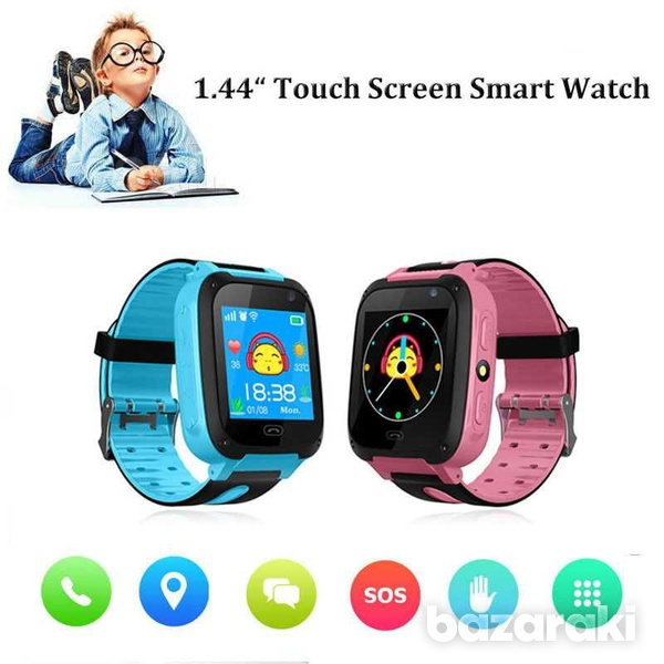Children safe smart watch 2gtouch screen location tracker with came-3
