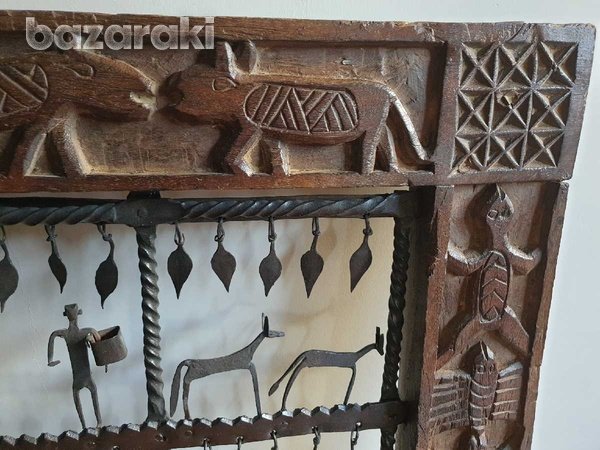 Wooden and iron decorative frame-2