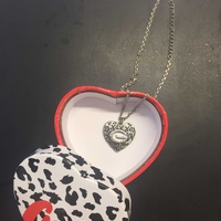 Guess heart shaped necklace