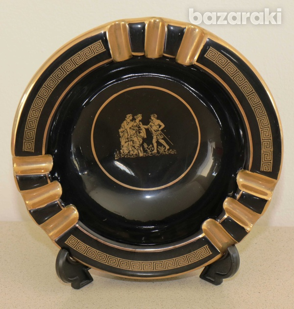 Various vintage collectibles - black with 24k gold - made in greece-3