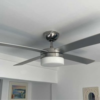 Stainless steel sealing fan and light with remote control