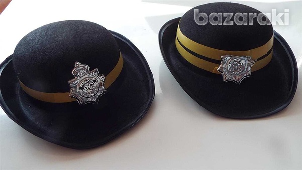 Carnival - pair of traffic wardens hats-1