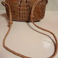 Crocodile leather bag