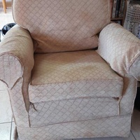 Armchair with matching footstall