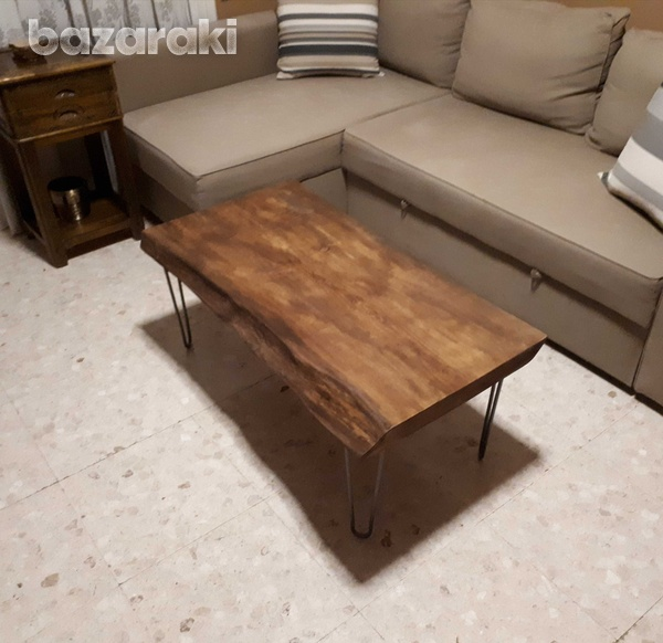 Natural wood coffee table-1