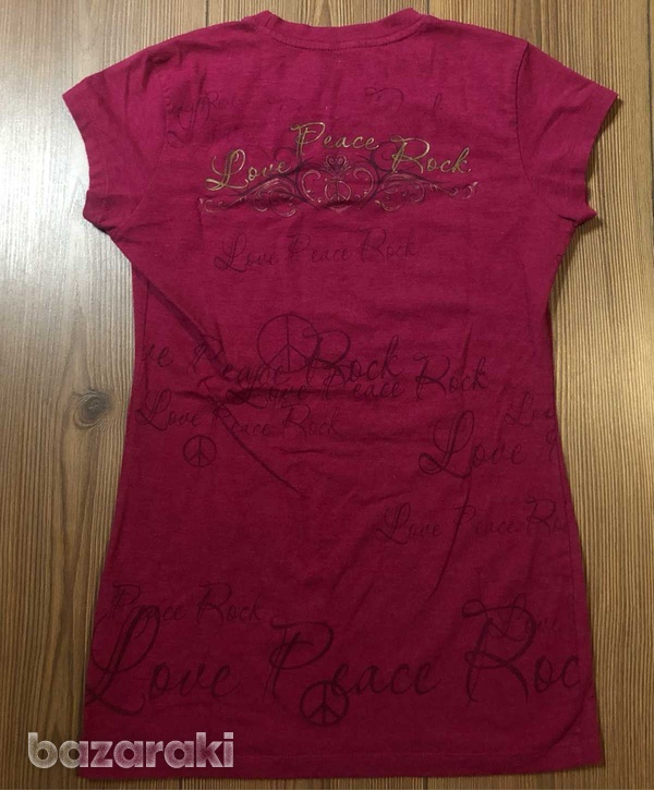 Hard rock cafe paris fuchsia t-shirt-3