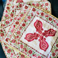 A set of six zipped pillow cases with chinesse ornament