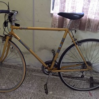 Old racing road 15 speed bicycle
