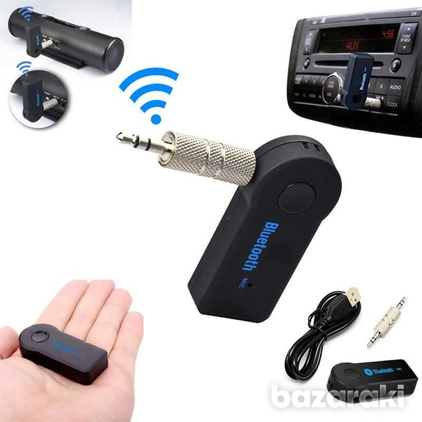 Wireless fm transmitter bluetooth music audio stereo adapter receiver-1