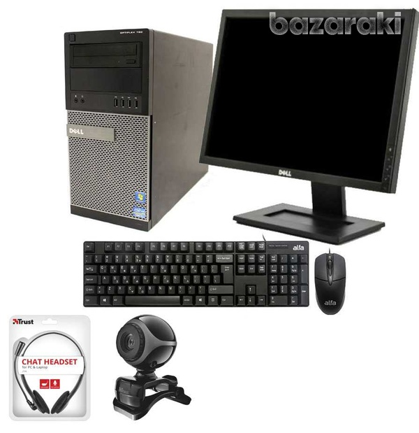 Dell i5 pc+webcam+headset-1