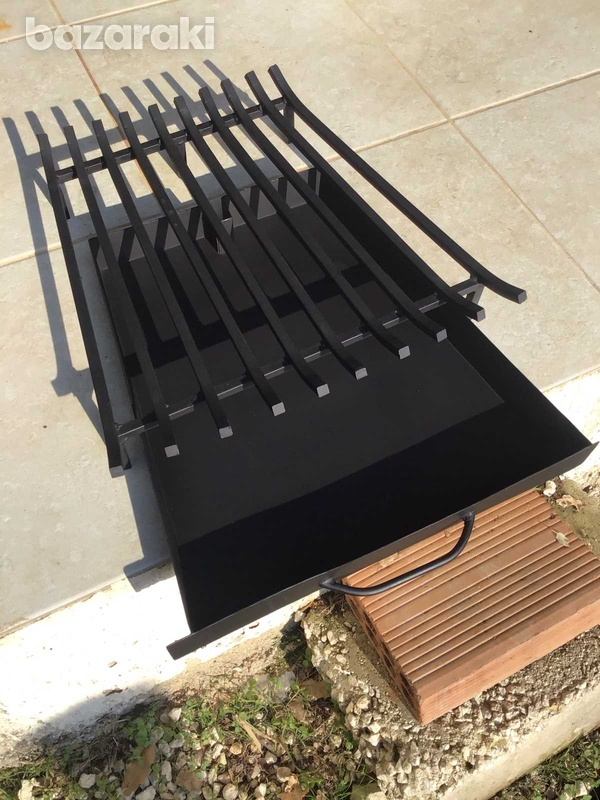 Grate for fire place with tray-1