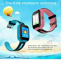 Children safe smart watch 2gtouch screen location tracker with came