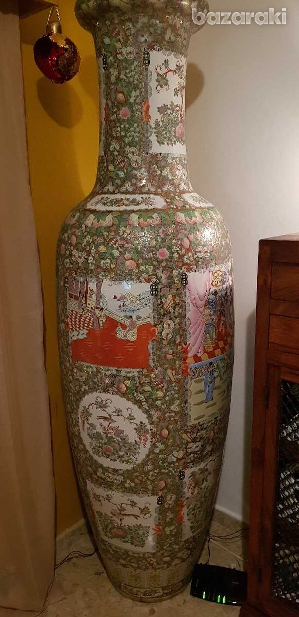 7 foot tall chinese vase, from 1920-1