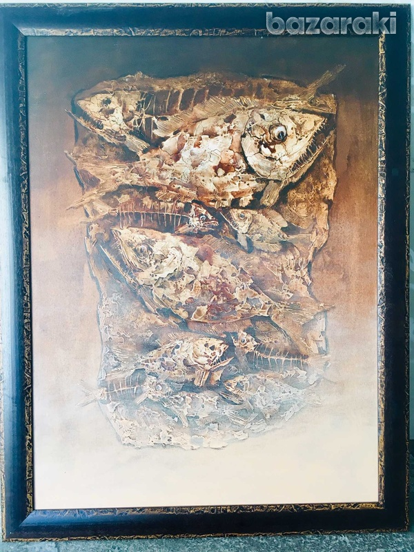 Balinese painting fishes-1