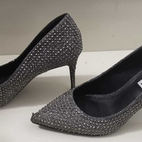Steve madden black crystal shoes