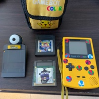 Game boy color console plus cover and two games and camera