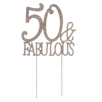 50 fabulous cake topper for 50th birthday party