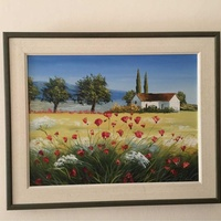 Painting 52wx42h cm with frame