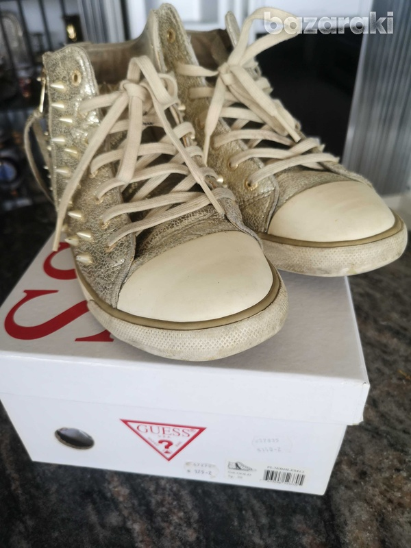 Guess gold trainers size 38-2