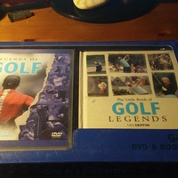 Golf legends box set dvd and book