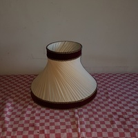 Lamp cover with satin details - 1960 - vintage lamp shade wit