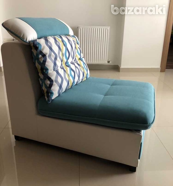 Italian single sofa in new condition with reclining pillow-1