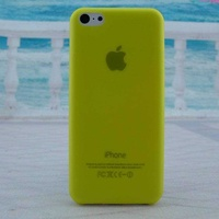 Slim matte transparent back cover for iphone 5c 0.3mm ultra thin color