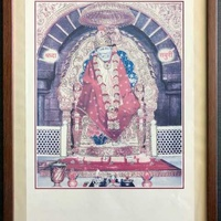 Shirdy sai baba framed poster